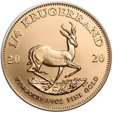 Südafrika - 1/4 Rand 2020 - Krügerrand - Anlagemünze - 1/4 Oz Gold ST