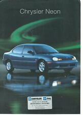 Chrysler Neon UK Sales Specification sheet 1996