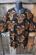 """ART TO WEAR MISSION CANYON 11 SINGLET TUNIC IN ALL NEW TOPAZ BATIK, OS+,54""""B"""