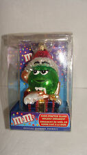 M & M Hand Crafted Glass Holiday Ornament Kurt Adler