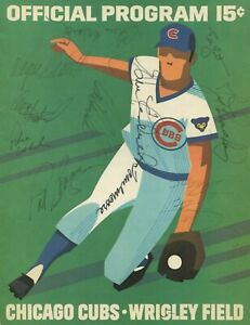 1972 CHICAGO CUBS VS NEW YORK METS WRIGLEY FIELD WILLIE MAYS AUTOGRAPHED PROGRAM