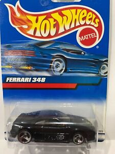 Hot Wheels Ferrari 348 Vintage Black Rare 3 Spoke Wheels