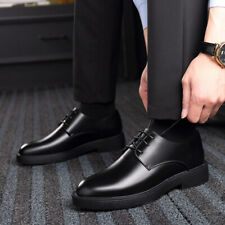 Men's Leather Oxfords Lace-up Round Toe Low Heel Business Formal Dress Shoes New
