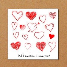 ANNIVERSARY CARD - birthday valentines - wife husband - love romantic heart sexy