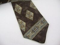 Vintage Men's Tie: Different Design Fancy Stripes Diamond Shapes