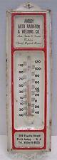 Orig Amboy Auto Radiator & Welding Co Adv Thermometer Sign NJ tel VAlley 6-6625