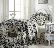 2pc Cordova Twin Quilt Set Creme/Black French Country Cottage -VHC Brands