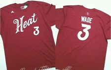 Dwyane Wade Miami Heat Adidas 2015-16 Christmas Day Jersey T-Shirt Size 2XL