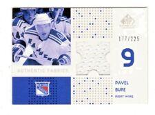 PAVEL BURE NHL 2002-03 SP GAME USED AUTHENTIC FABRICS #/225 (RANGERS,CANUCKS)