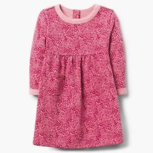 NWT Gymboree Creative Types Girls Pink Leaf Long Sleeve Dress 2T