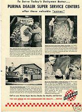 1960 Purina Check-R-Mix Farm Print Ad To Serve Today's Dairymen Better...