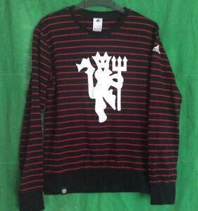 Manchester United Adidas Red Devil Crew Neck Sweatshirt Mens Small