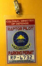 Battlestar Galactica Car Parking Permit-Raptor costume prop cosplay