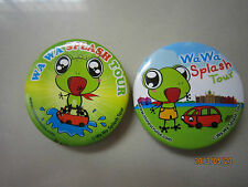 Wa Wa Splash Tour Cute Frog Pin/Brooch 2pcs