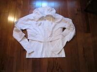 LULULEMON SEEK THE PEAK JACKET COAT IN WHITE SIZE 6 FRONT ZIP