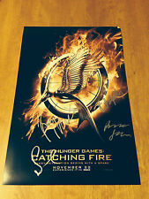 The Hunger Games:Catching Fire *MOVIE CAST* Signed 12x18 Photo H1 PROOF COA