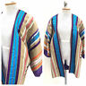 Vintage VTG 1970s 70s Opus 1 Purple Embroidered Multicolored Ribbon Open Jacket