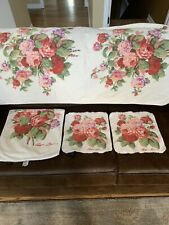 Four Piece Set Of Ralph Lauren Kathleen floral Towels.