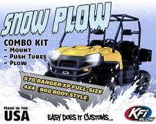 """2016 POLARIS 570 Ranger XP Full-Size 4x4   - KFI UTV 72"""" Snow Plow Combo Kit"""