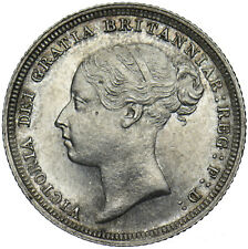 More details for 1886 sixpence - victoria british silver coin - superb