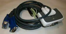 IOGEAR MiniView Micro USB Plus Dual Port DynaSync KVM & Audio Switch GCS632U