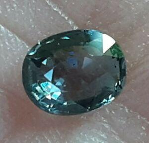 Fiery Natural 0.70ct Blue Green Oval Montana Mined Sapphire U.S. Seller