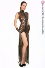 Latex Kleid - DER WAHNSINN - superlang in SMOKY - Größe zur Auswahl