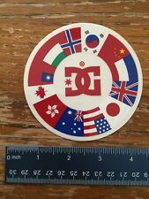 DC shoes flags sticker skate decal skateboarding