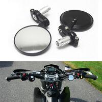 "Motorcycle 7/8"" Handle Bar End Rear View Mirror For Honda Suzuki Kawasaki Yamaha"