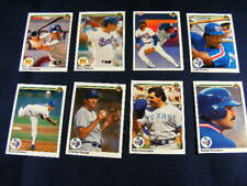 1990 Upper Deck Texas Rangers MLB Baseball Cards Lot Of 26 Good Condition