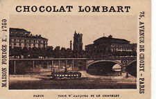 Z209 image chromo CHOCOLAT LOMBART PARIS tour saint Jacques