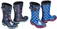 Harry Hall Hale Junior Wellington Boots Childrens, Child's, Horse or Star Design