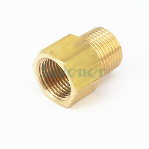 """3/8"""" NPT Male x 3/8"""" BSPP Female Brass Pipe Fitting Connector For Pressure Gauge"""