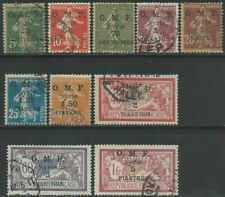 Syrien Syria 1921 used Mi.153/61 Freimarken Definitives Frankreich [st5093]