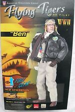 "1/6 scale 12"" collectable action figure by Dragon WW2 Flying Tiger P40 Pilot"