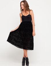 NWT ~ Motel Rocks Black Flocked Bustier Louise Dress - Size S