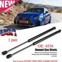 Pair LORO Hood Gas Shock 2x Struts Fits AUDI 80 B4 Avant Rs2 S2 8A0823360A