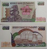 """BILLETE """"  ZIMBABWE    500   DOLARES   AÑO  2001    PLANCHA    UNC"""