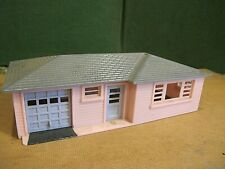 plasticville/plastic pink O gauge ranch house train layout