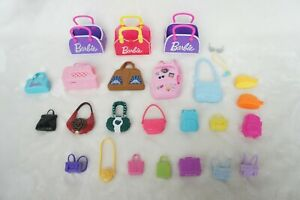 Barbie Doll Accessories Purse Bag Backpack Clutch Carrier Lot 151
