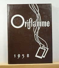 1958 Mount Carmel High School Yearbook - Oriflamme- Chicago Illinois IL Annual