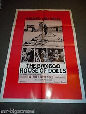 THE BAMBOO HOUSE OF DOLLS - ORIGINAL FOLDED POSTER - 1973 - BIRTE TOVE