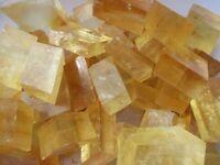 2.2lb Yellow Calcite Crystal ICELAND SPAR Rough Mineral Rock Specimen Unpolished