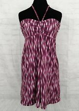 Eddie Bauer Aster Purple Convertible Halter Dress size Medium EUC