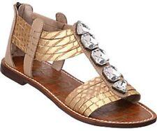 Sam Edelman Galina crystal embellished sandals Flats Gladiator Gold 7.5 M Zip
