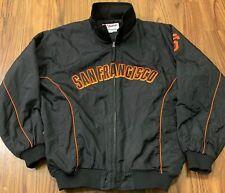 Majestic Authentic San Francisco Giants MLB Baseball Jacket Black Orange XXL 2xl