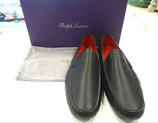 Ralph Lauren Black Leather Loafer Size 10.5E - Made in Italy