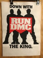 RUN DMC DOWN WITH THE KING FELT PELLON TSHIRT SAMPLE PROMO 1993 VINTAGE VTG RAP