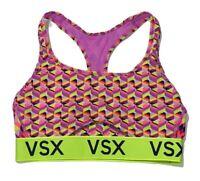 VICTORIAS SECRET VSX The Player Racerback Sport Bra Small Bright Multicolored
