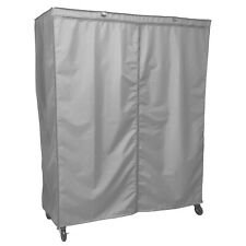 """Storage Shelving unit cover, fits racks 72""""Wx24""""Dx78""""H (Cover only Grey color)"""